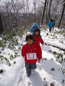 雪の中をざっくざく~!